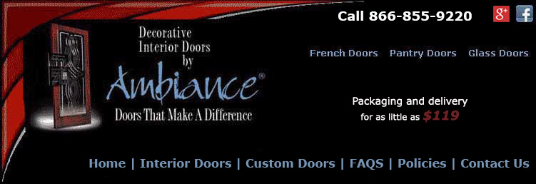 Interior glass doors and interior French doors by Ambiance door company.
