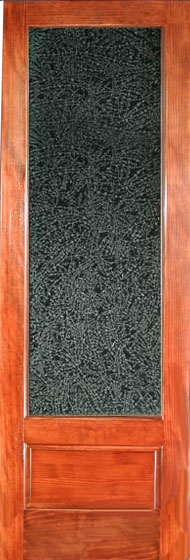 Interior Door With Glue Chip Glass Textured Glass Doors